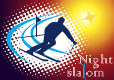 Slalom de nuit illustration stock