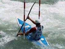 Slalom del kajak Fotografie Stock Libere da Diritti