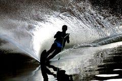 Slalom del lago Fotografie Stock