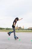 Slalom di stile libero Fotografia Stock
