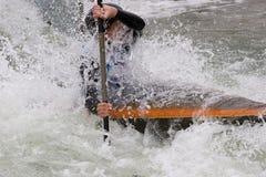 Slalom för vitt vatten Arkivfoto