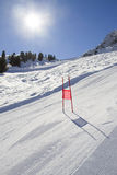 Slalom gate Stock Images