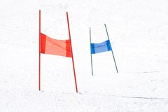 Slalom Gates Royalty Free Stock Photography