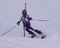 Slalom racer. Slalom skier in Austria Stock Images
