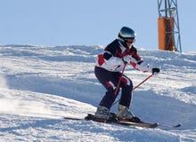 Slalom ski races. Slalom Ski racer on Kitzsteinhorn glacier, Austria Royalty Free Stock Photography