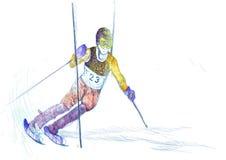 Slalom, skier Stock Images