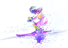 Slalom, skier Stock Photography