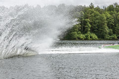 Slalom, water skis Stock Image