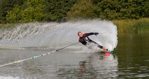 Slalom waterskier Royalty Free Stock Images