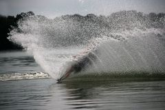 Water skiing on Old Hickory Lake Stock Photo
