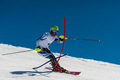 Slalomskiër in Gudauri, Georgië Stock Fotografie