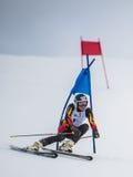 Slalomskiër in Gudauri, Georgië Royalty-vrije Stock Fotografie