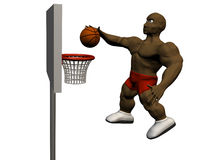 Slam dunk Royalty Free Stock Photography