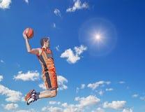 Slam Dunk in der Sonne Lizenzfreies Stockbild
