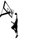 Slam Dunk Silhouette Stock Images