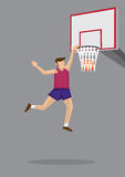 Slam Dunk Vector Cartoon Illustration Royalty Free Stock Photo