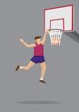 Slam Dunk-Vektor-Karikatur-Illustration Lizenzfreies Stockfoto