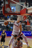 Slam Dunk-Wettbewerb während Kondrashin-Belovschale Lizenzfreie Stockfotografie