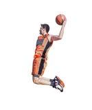 Slam dunk on white Stock Photos