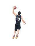 Slam dunk on white background Royalty Free Stock Image