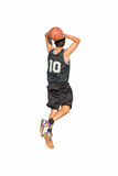 Slam dunk on white Royalty Free Stock Image