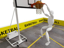 Slam dunking basketball Royalty Free Stock Images
