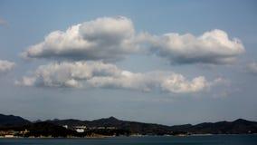 Sland Shodoshima в море стоковое изображение rf