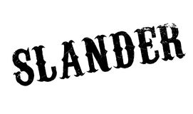 Slander rubber stamp. Grunge design with dust scratches. Effects can be easily removed for a clean, crisp look. Color is easily changed Stock Image