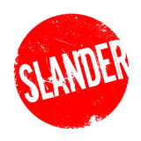 Slander rubber stamp. Grunge design with dust scratches. Effects can be easily removed for a clean, crisp look. Color is easily changed Royalty Free Stock Photography