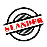 Slander rubber stamp. Grunge design with dust scratches. Effects can be easily removed for a clean, crisp look. Color is easily changed Royalty Free Stock Images