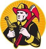slang för holding för brandman för axbrandbrandman stock illustrationer