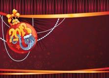 Slang - het symbool van Nieuwjaar 2013. Royalty-vrije Stock Foto's