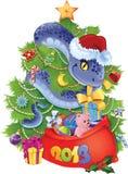 Slang - het symbool van Nieuwjaar 2013. Royalty-vrije Stock Afbeeldingen