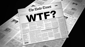 Slang WTF? - Newspaper Headline stock footage