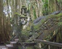 Slangbrug in het Heilige Aapbos in Bali Indonesië Royalty-vrije Stock Fotografie