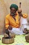 Slangenbezweerder. India. Rajasthan. Royalty-vrije Stock Afbeeldingen
