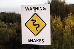 Slangwaarschuwingsbord Stock Afbeeldingen