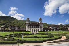 Old casino and castle hotels in Slanic Moldova, Romania