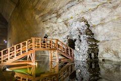 Slanic Prahova salt pan - interior lake Royalty Free Stock Photo