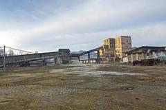 Slanic Prahova salt pan - ruins stock image
