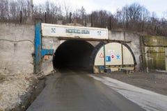 Slanic Prahova soli niecka - wejście Obraz Stock