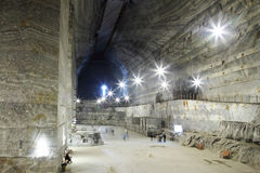 Slanic salt mine - Unirea Stock Photo