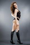 Slank glamourmeisje Royalty-vrije Stock Foto's