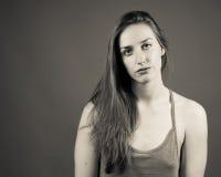 Slank Kaukasisch Vrouwelijk Portret Royalty-vrije Stock Foto's