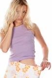 slank lös skirt för flicka arkivbild