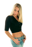 Slank meisje Stock Foto