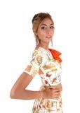 Slanke jonge schitterende vrouw Royalty-vrije Stock Foto