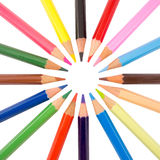 Slanke kleurpotloden radiale regeling Royalty-vrije Stock Afbeelding
