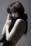 Slanke sexy brunette Royalty-vrije Stock Foto's