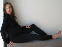 Slanke vrouwelijke zwanger Stock Foto